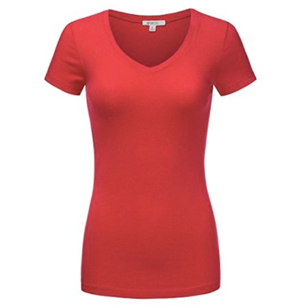 Sexy Plus Size Low-Cut Cleavage V-Neck T-Shirt Tee Top - Cleavage T Shirts