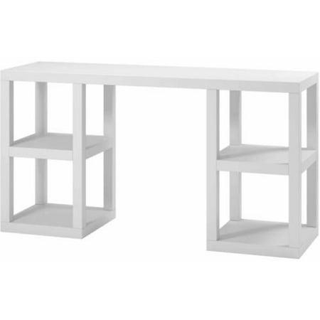 Mainstays Double Pedestal Parsons Desk, Multiple Colors ()