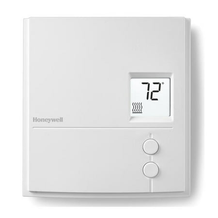 Honeywell Digital Line Volt Thermostat, Baseboard Non-Programmable (RLV3150A1004/E)