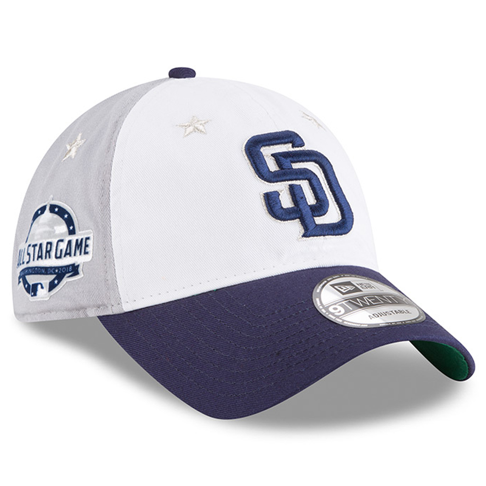 San Diego Padres New Era 2018 MLB All-Star Game 9TWENTY Adjustable Hat - White/Blue - OSFA