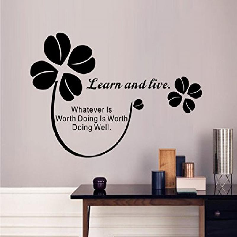 Aiwall 9086 Art Characters Wall Stickers Learn and Live For Kids Room DIY Home Decorations Wall Decals