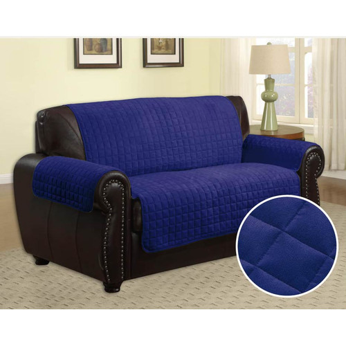 LaCozee Quilted Microfiber Loveseat Slipcover