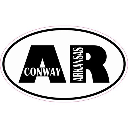 5in x 3in Oval AR Conway Arkansas Sticker ()