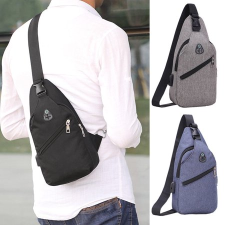 Luxury Mens Womens Sling Bag Chest Shoulder Backpack Fanny Pack Crossbody Travel Sport For (Best Get Home Bag Backpack)