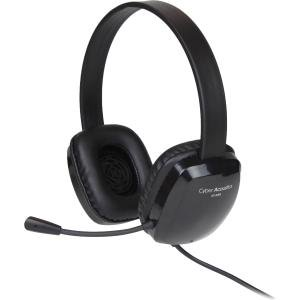 Cyber Acoustics Stereo Headset w/ Single Plug Cyber Acoustics Black Headset
