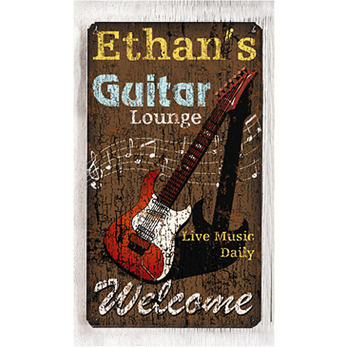 Personalized Metal Sign, Guitar