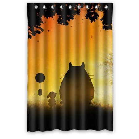 DEYOU My Neighbor Totoro Sunset Shower Curtain Polyester Fabric Bathroom Size 48x72 Inches