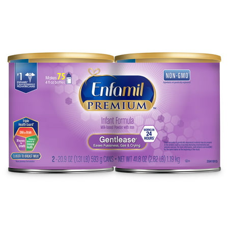 Enfamil PREMIUM Gentlease Twin Can (2 / 20.9 oz Cans)