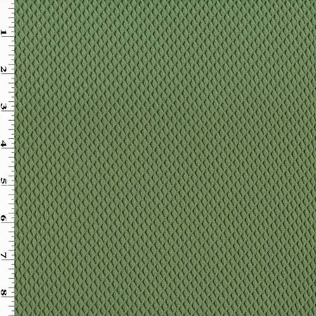 Green Diamond Trellis Double Knit Mesh, Fabric By the (Double Weave Mesh)