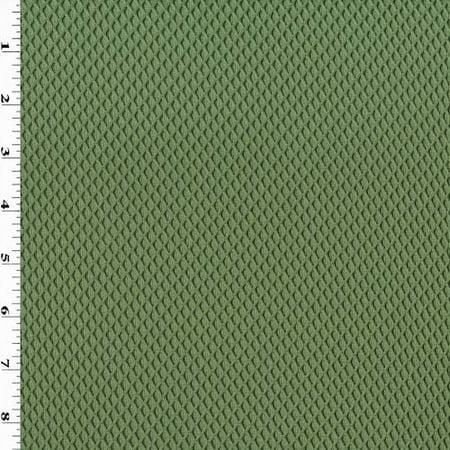 Green Diamond Trellis Double Knit Mesh, Fabric By the (Trellis Fabric)