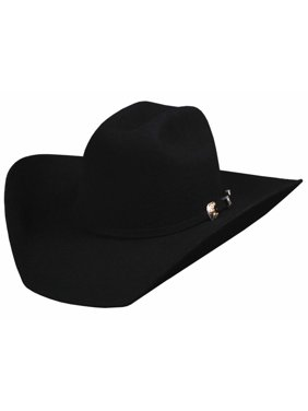 Bullhide Hats 0550Bl Rodeo Round-Up Collection Kingman 4X 6 7/8 Black Cowboy Hat