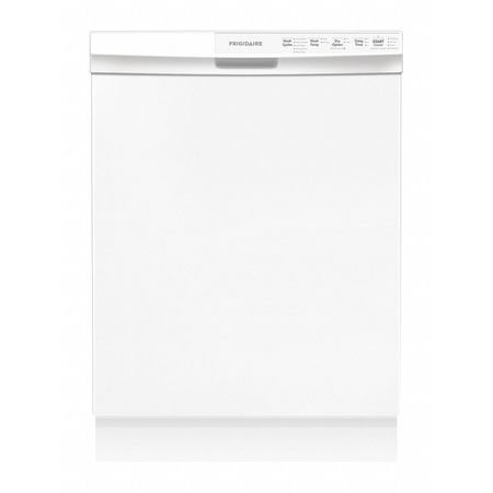 """Frigidaire 24"""" Built-in Dishwasher w/ 14 Place Setting, White"""