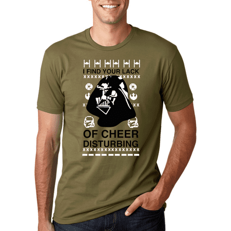 I Find Your Lack Of Cheer Disturbing Black | Mens Christmas T-Shirt