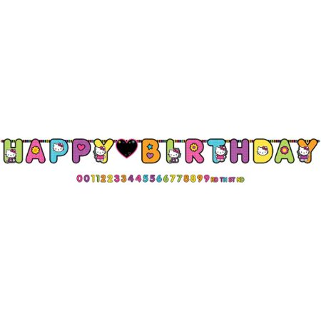 Hello Kitty 'Neon Tween' Jumbo Letter Birthday Banner for $<!---->