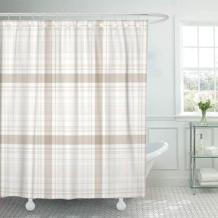 Traditional Bath Shower (PKNMT Red Buffalo Tartan Traditional Checkered British Check Abstract Black Celtic Classic Shower Curtain Bath Curtain 66x72 inch)