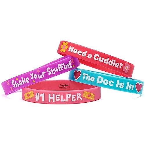 Doc McStuffins Party Favor Rubber Bracelets, 4ct