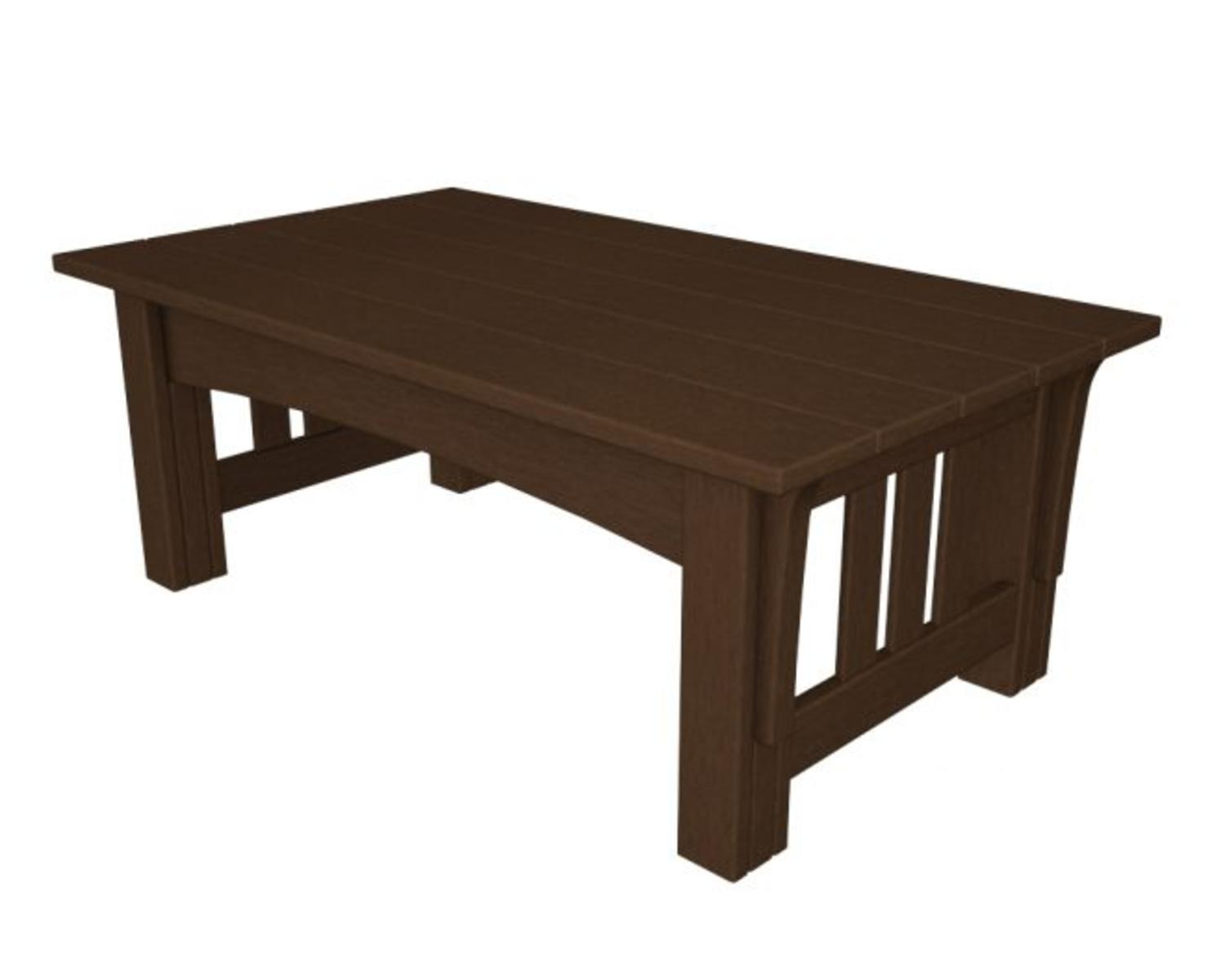Recycled Earth-Friendly Outdoor Patio Mission Style Coffee Table Chocolate Brown by Eco-Friendly Furnishings