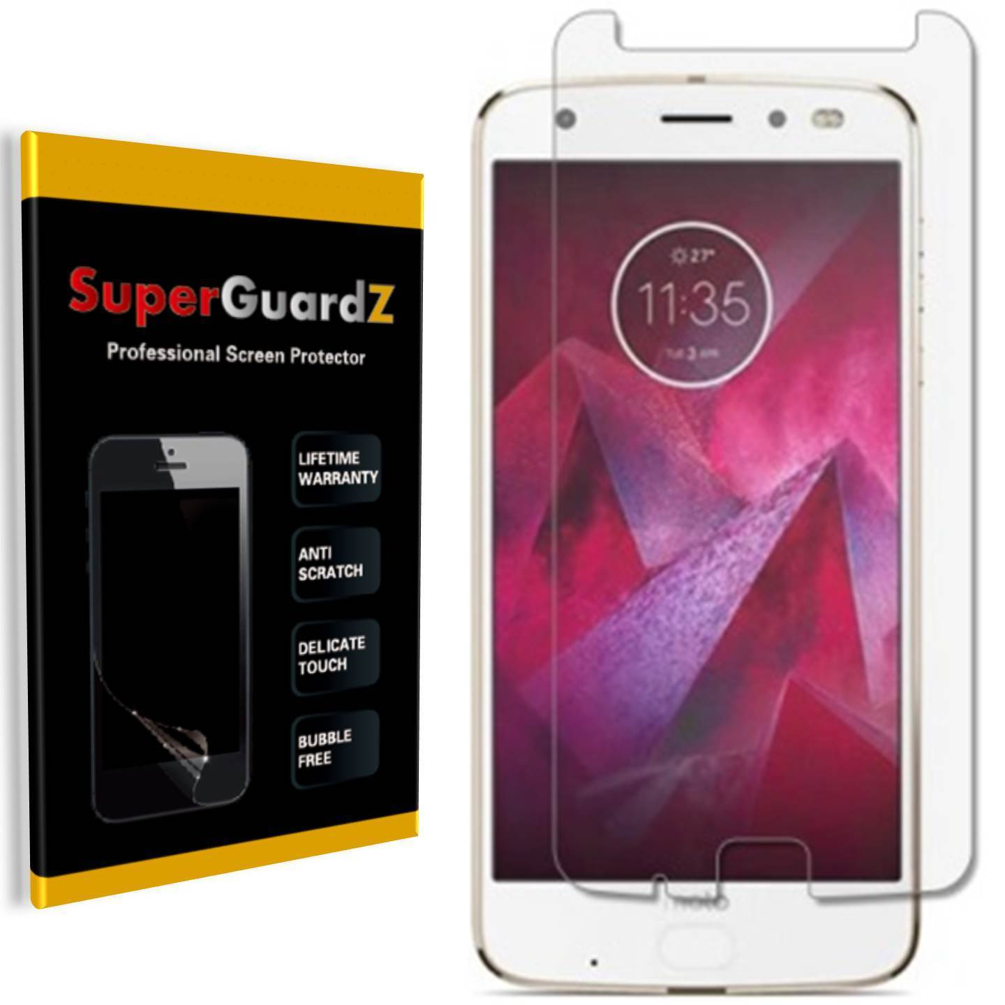 [8-Pack] For Motorola Moto Z2 Force - SuperGuardZ Ultra Clear Screen Protector, Anti-Scratch, Anti-Bubble