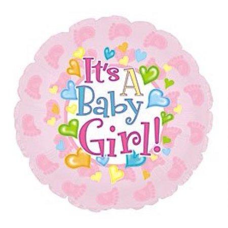 It's a Baby Girl Feet 18-in Mylar Double Sided Balloon - Balloon Avalanche