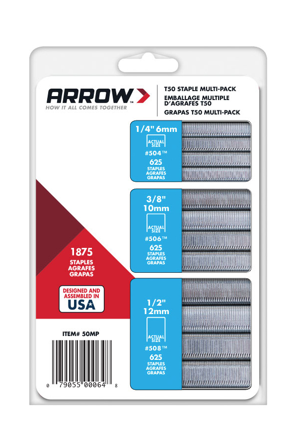 Arrow T-50 Staples Multi-Pack, 1875 Count by ARROW FASTENER COMPANY LLC