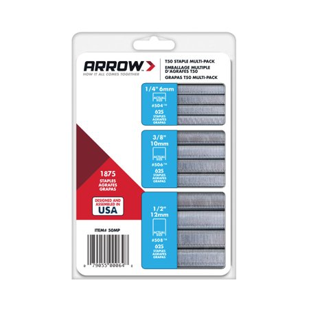 Arrow T-50 Staples Multi-Pack, 1875 Count ()