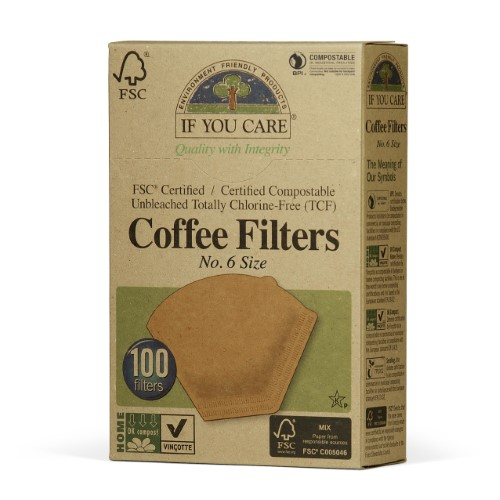 If You Care 100% Unbleached Coffee Filter, No. 6, 100 Ct by Nestle