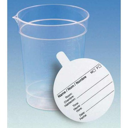 Globe Scientific Collection Cup, 6.5 oz., 500 Pack, 5924 (Globe Scientific Dispenser Tip)