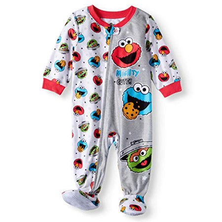 Baby Boys Girls Elmo Mighty Cute Blanket Sleeper Footed Pajamas (24M)