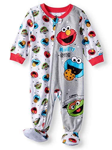 Baby Boys Girls Elmo Mighty Cute Blanket Sleeper Footed Pajamas (24M)