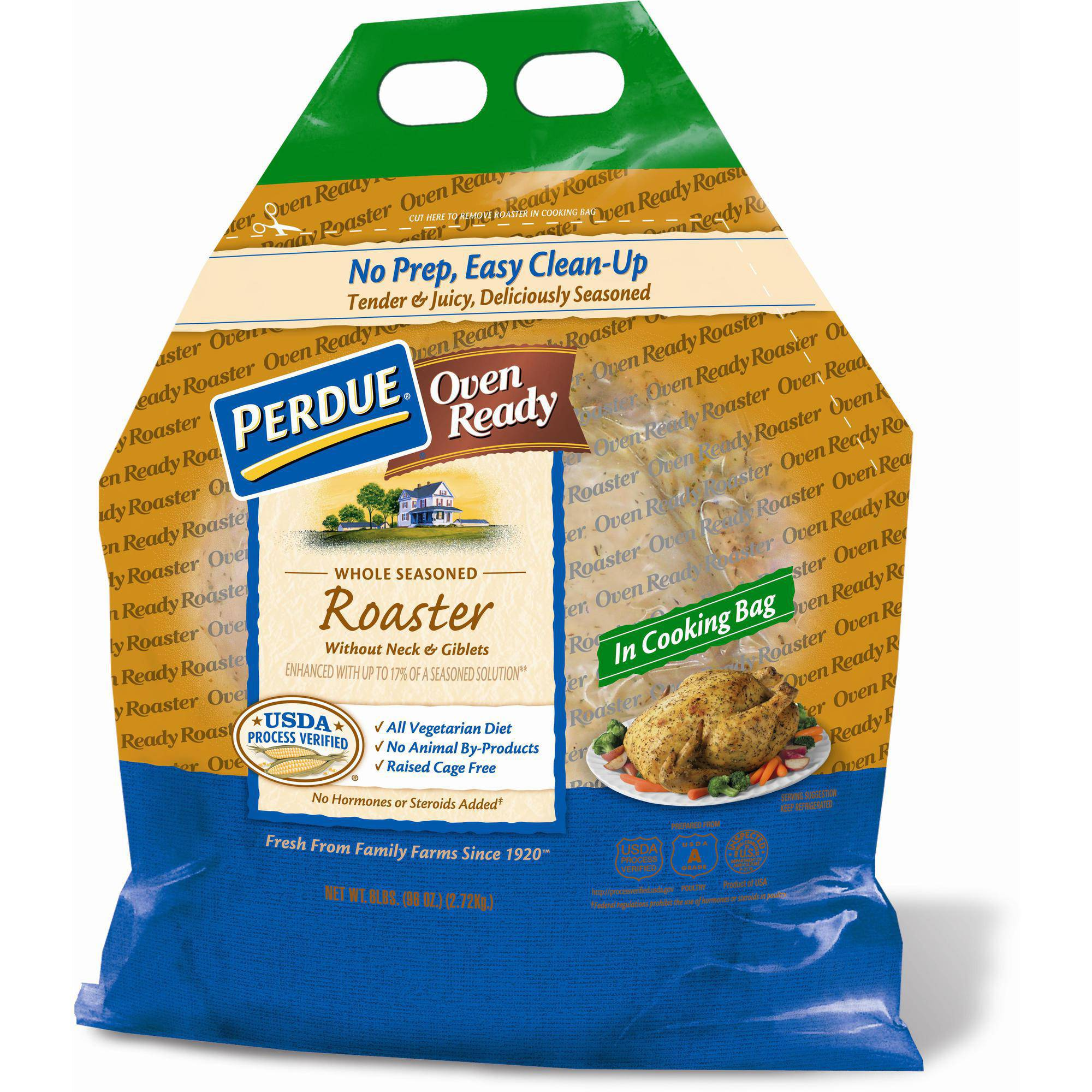 Perdue Oven Ready Whole Seasoned Roaster Chicken, 6 lbs