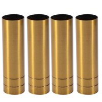 Unique Bargains 4pcs 25mmx100mm Brass Tone Metal Candle Cover Sleeves Chandelier Socket Covers
