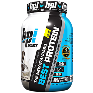 BPI Best Protein - Advanced 100% Whey Protein Formula Cookies and Cream 2 lbs