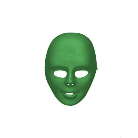 Green Full Face Mask Halloween Costume Accessory (Halloween Zipper Face Uk)