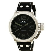 TWA200 Men's Canteen Black Leather Strap Black Dial Automatic Watch