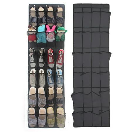 Door Storage Rack (24 Pocket Shoe Space Door Hanging Organizer Rack Wall Bag Storage Closet Holder)