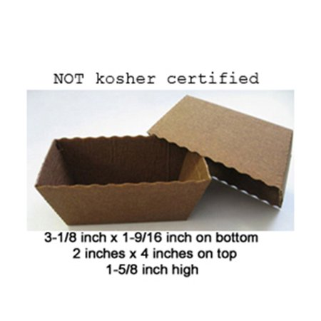 Novacart Dark Brown Easybake Paper Baking Mini Loaf Pan 100 Pieces, Pack Of 100 - Paper Baking Pans