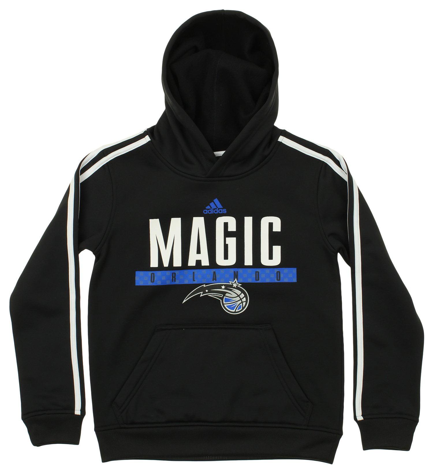 Adidas NBA Youth Orlando Magic Pullover Playbook Hood, Black