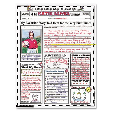 Scholastic Instant Personal Poster Sets, Extra Extra Read All About Me, 17