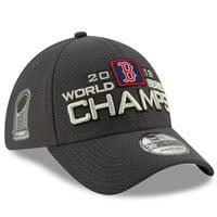 Boston Red Sox New Era 2018 World Series Champions Locker Room 39THIRTY Flex Hat - Charcoal - OSFM