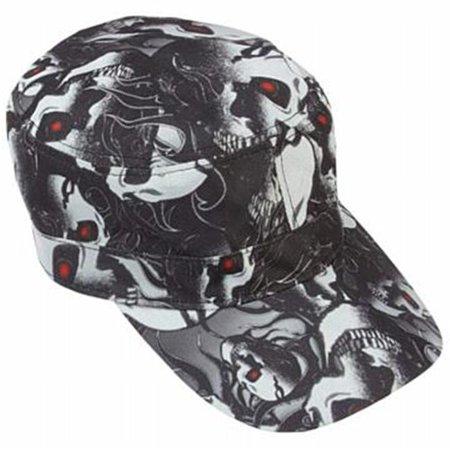 Red Eye Skull Design Cap