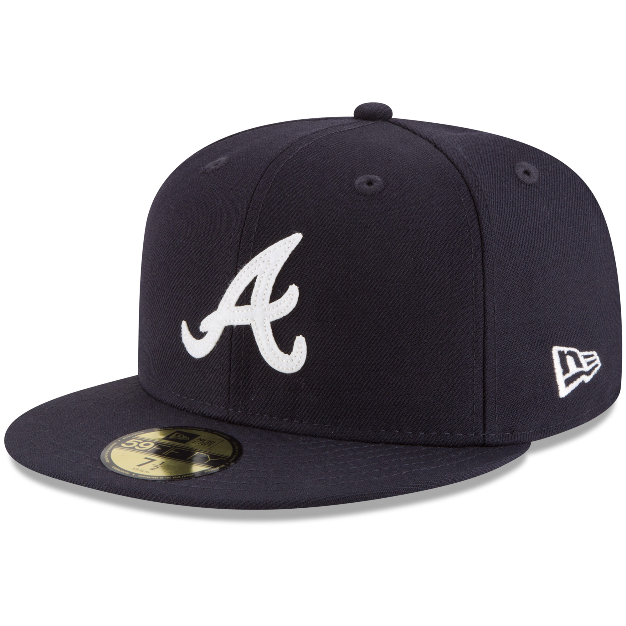 Atlanta Braves New Era Cooperstown Inaugural Season 59FIFTY Fitted Hat - Navy