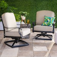 Belham Living Sorrento Aluminum Swivel Deep Seating Lounge Chair - Set of 2