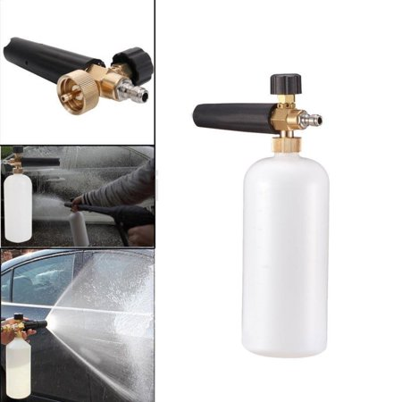 "High Pressure Snow Foam Lance Soap Car Washes Gun Cannon Jet Car Washer with 1/4"" Quick Connector"