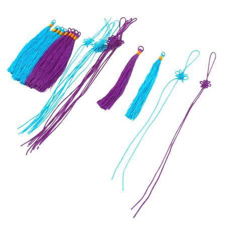 Halloween Bookmark Craft (Nylon Handmade Craft Tassel Bookmark Decor Chinese Knot Purple Sky Blue 10)