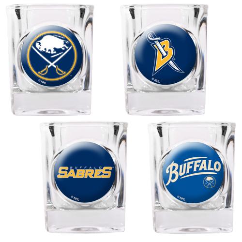 Buffalo Sabres 4-Piece 2oz. Square Shot Glass Set - No Size