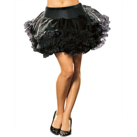 Black Plus Size Petticoat (Ursula Petticoat Black Adult Halloween)