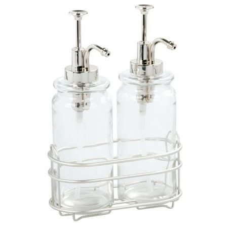 Better Homes & Gardens Glass Double Soap & Lotion Dispenser Pump Set, 3 Piece