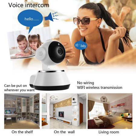 Wireless WiFi Video Baby Monitor Two-Way Audio Home Security Camera HD 720P Night Vision