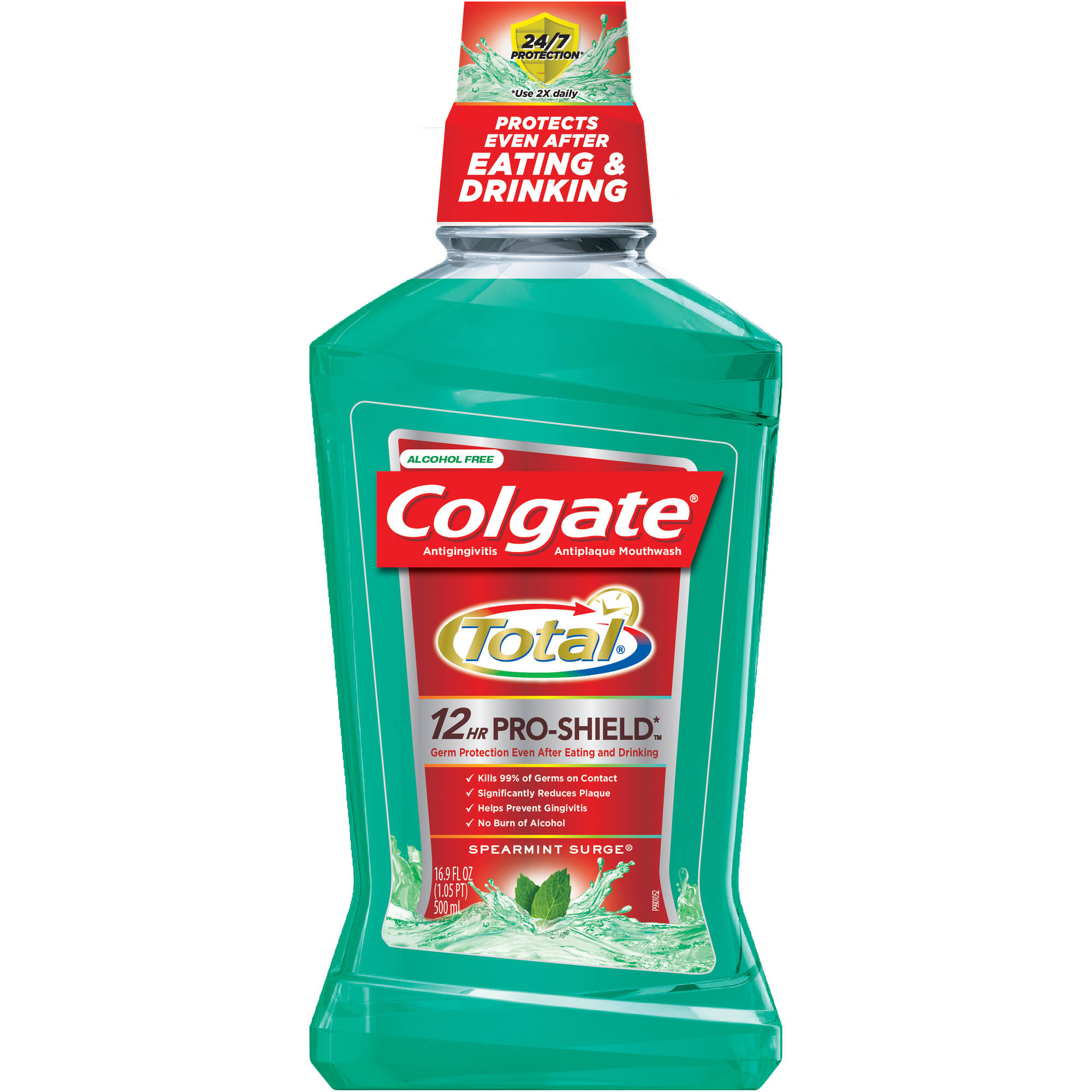 Colgate Total Advanced Pro-Shield Spearmint Surge Mouthwash, 16.9 fl oz
