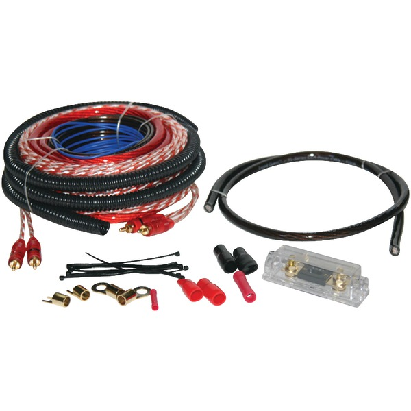 SOUNDQUEST SQK4ANL Value Series Copper-Clad Aluminum Amp Wiring Kit (4 Gauge)